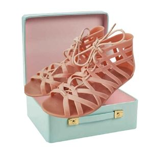 Dirty laundry pink jelly gladiator sandals…